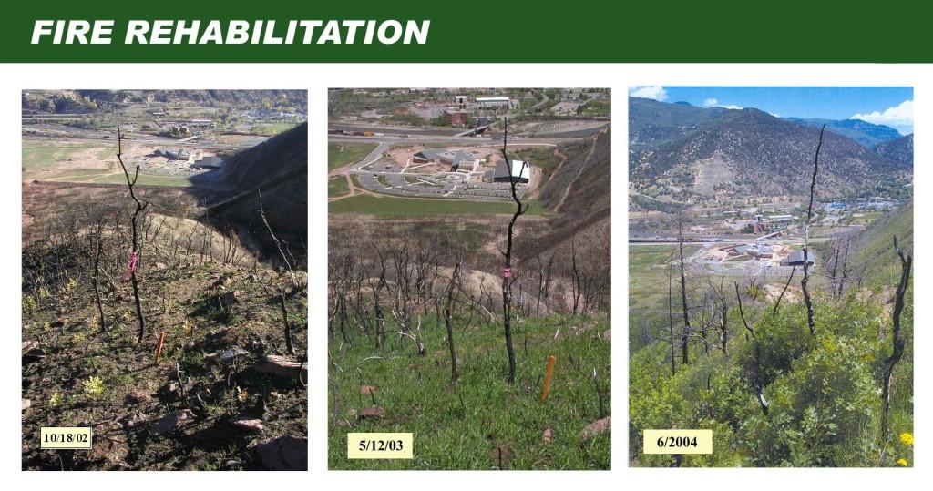 Coal Seal fire rehabilitation, burned out soil, hydrophobic, Biosol Mix