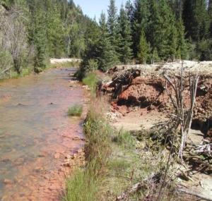 Block P Superfund Site MT - Creek Restoration Before