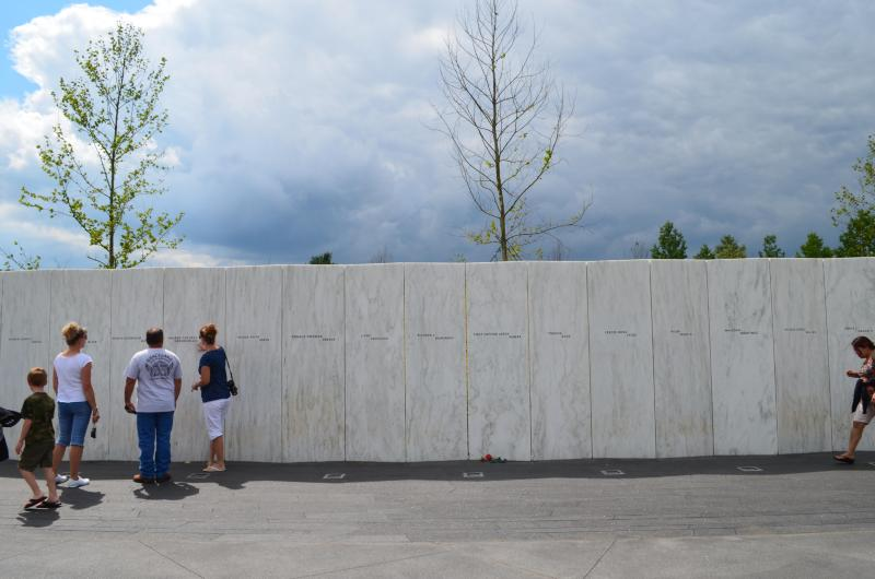 FLT 93 Memorial Park Wall of Names